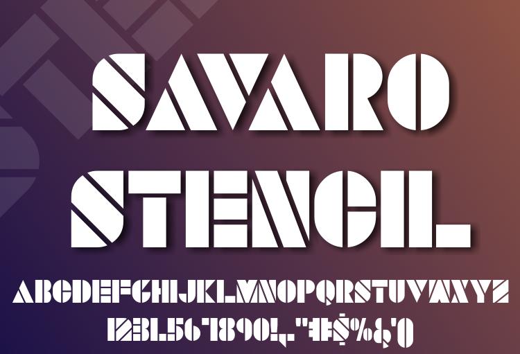 Savaro Stencil