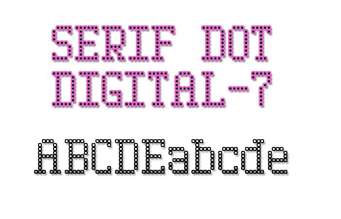 Serif Dot Digital-7