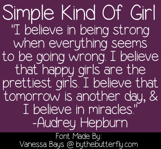 Simple Kind Of Girl