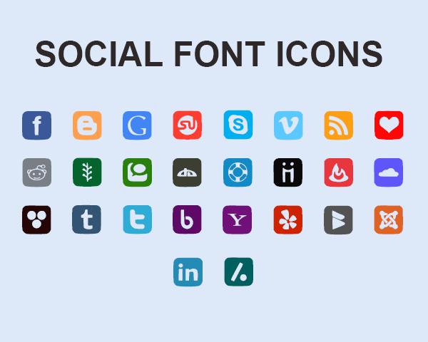 Social Font Icons