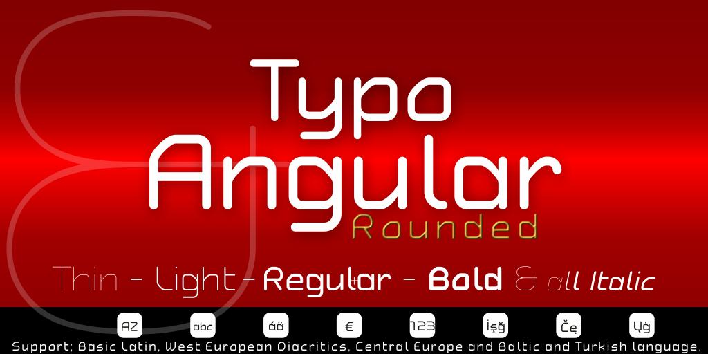 Typo Angular Rounded