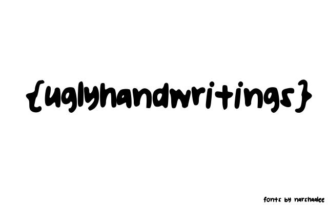 Ugly Handwriting