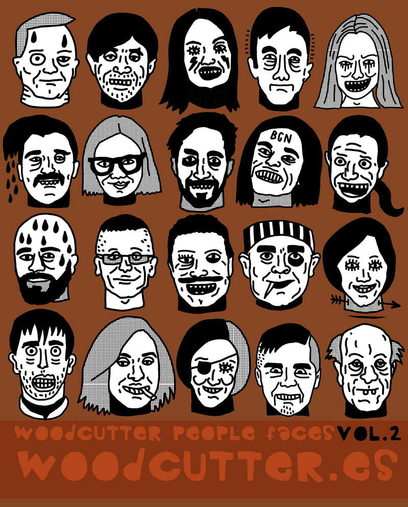 Woodcutter People Faces Vol.2