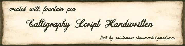 zai Calligraphy Script Handwritten
