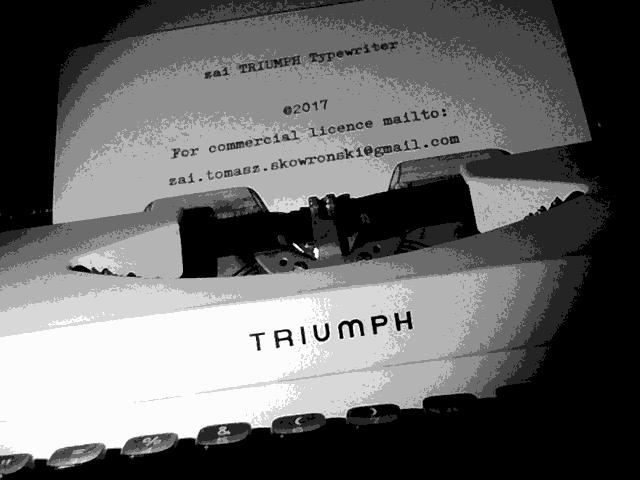 zai Triumph Typewriter