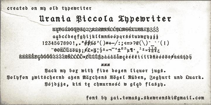 zai Urania Piccola Typewriter